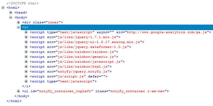 استفاده از کد های Javascript در فایل HTML