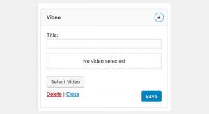 ابزارک ویدئو